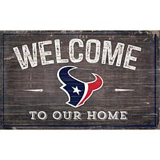 Officially Licensed NFL Welcome Sign - Houston Texans