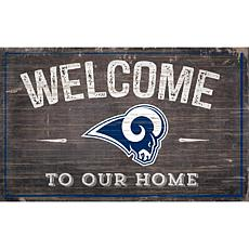 Officially Licensed NFL Welcome Sign - Los Angeles Rams