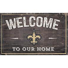 Officially Licensed NFL Welcome Sign - New Orleans Saints