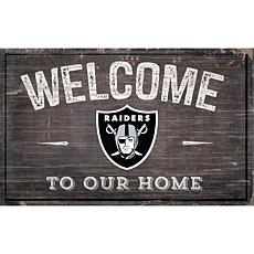 Officially Licensed NFL Welcome Sign - Oakland Raiders