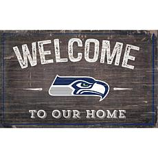 Officially Licensed NFL Welcome Sign - Seattle Seahawks