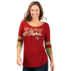 Officially Licensed NFL Women's 3/4 Sleeve Game Changer Tee  by Glll
