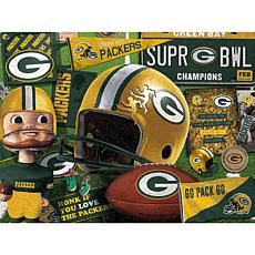 Officially Licensed NFL Wooden Retro Series Puzzle-Green Bay Packers
