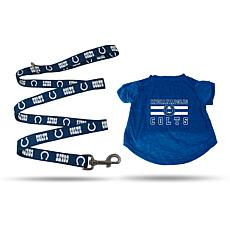 Officially Licensed NFL X-Large Pet T-Shirt with 6' Leash - Colts