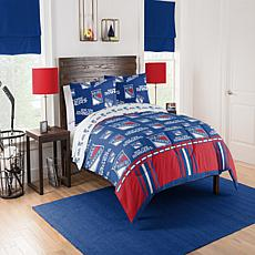 Officially Licensed NHL 864 Full Bed In a Bag Set - New York Rangers