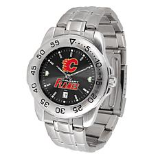 Officially Licensed NHL Sport Steel Series Watch - Calgary Flames