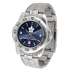 Officially Licensed NHL Sport Steel Series Watch- Toronto Maple Leaves