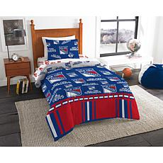Officially Licensed NHL Twin Bed In a Bag Set - New York Rangers