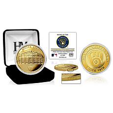 """Officially Licensed """"Stadium"""" Gold Mint Coin - Milwaukee Brewers"""