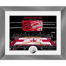 Officially Licensed Toronto Raptors Art Deco Silver Coin Photo Mint