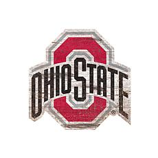 Ohio State University Distressed Logo Cutout Sign