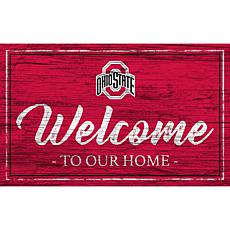 """Ohio State University Team Color Welcome Sign - 11x19"""""""