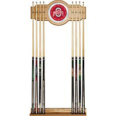Ohio State University Wood and Mirror Wall Cue Rack