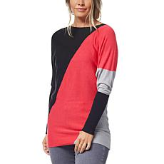 Olive and Vine Diagonal Colorblock Tunic