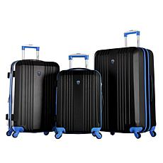Olympia USA Apache 3-piece Luggage Set with Hidden Laptop Compartment