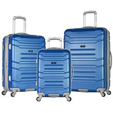 Olympia USA Denmark 3-piece Luggage Set with Hidden Laptop Compartment