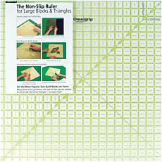 Omnigrip Non-Slip Diamond Free Quilter's Ruler - 20-1/2X20-1/2