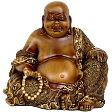 "Oriental Furniture 6"" Sitting Laughing Buddha Statue"