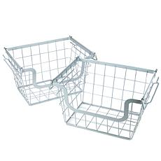 Origami 2-pack Metal Stacking Baskets