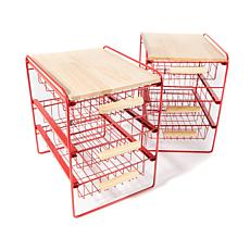 Origami 3-Drawer Countertop Organizer 2-pack