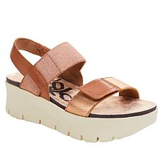 OTBT Travel Lite® Nova Leather Wedge Sandal