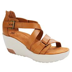 OTBT Travel Lite® Teresa Leather Wedge Sandal