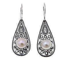 Ottoman Jewelry Cultured Pearl Blossom Earrings