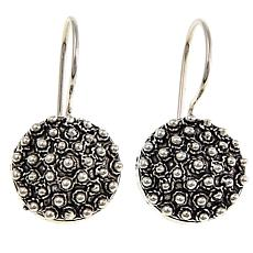 Ottoman Jewelry Sterling Silver Round Bead Drop Earrings