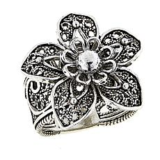 Ottoman Silver Jewelry Collection Filigree Flower Ring