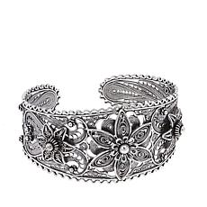 Ottoman Silver Jewelry Floral Bead Cuff