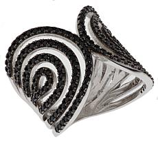 "Ottoman Silver Jewelry X-Design 1.36ct Black Spinel ""Sultan"" Ring"