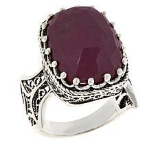 Ottoman Silver Sterling Silver Bold Gemstone Filigree Ring