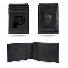 Pacers Laser-Engraved Front Pocket Wallet - Black