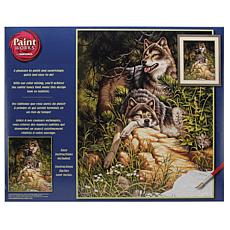 "Paint Works Paint By Number Kit 16"" x 20"" - Wild and Free Wolves"
