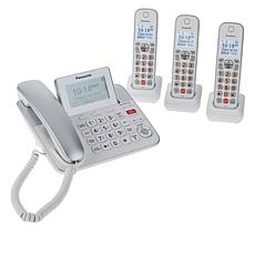 Panasonic Corded and Cordless 4-Handset System with Call Block