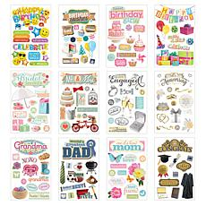 Paper House Let's Celebrate Card Making - 3D Sticker Set