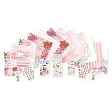 Paper House Pink Floral Paper Crafting Bundle