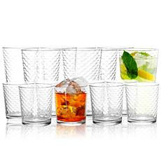 Pasabahce 16 Piece Horizon Double Old Fashioned and Tumbler Glass Set