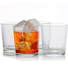 Pasabahce Horizon 10-Piece 13 oz Double Old Fashion Glass Set, Clear