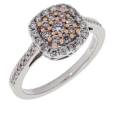 Passport to Gems 14K .50ctw Pink and White Diamond Ring