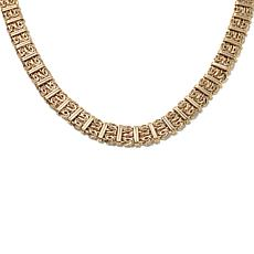 "Passport to Gold 14K Byzantine Station 18"" Necklace"