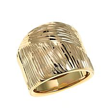 Passport to Gold 14K Diamond-Cut Wide Band Ring