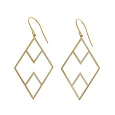 Passport to Gold 14K Gold Diamond-Shaped Drop Earrings