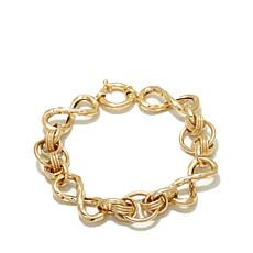 "Passport to Gold 14K Infinity Link 7-1/2"" Bracelet"