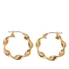 Passport to Gold 14K Yellow Gold Ribbon-Twist Hoop Earrings