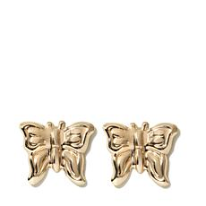 Passport to Gold Kids 14K Butterfly Stud Earrings