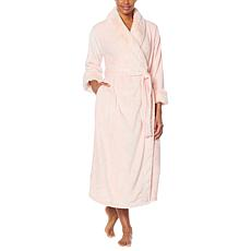 Patricia Altschul Full Length Faux Fur Trimmed Robe