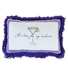 "Patricia Altschul Luxe Cocktail Hour Printed 15"" x 10"" Pillow"