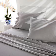 Patricia Altschul Scalloped 100% Cotton 4-piece Sheet Set