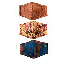 Patricia Nash 3-pack Reusable 4-Layer Face Coverings